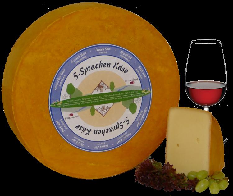 5-Sprachen-Käse